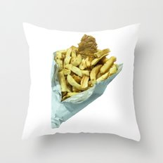 Fish n Chippies Throw Pillow