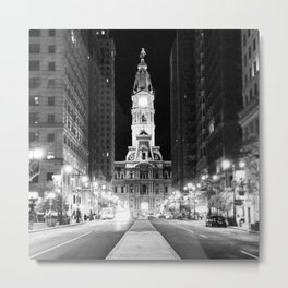 Philly by Night Metal Print