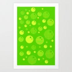 Bubblemagic - Lime Art Print