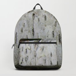 Birch Bark on a Fallen Tree Backpack