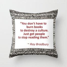 Burning Books - Ray Bradbury Throw Pillow
