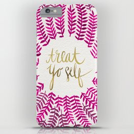 Treat Yo Self – Pink & Gold iPhone Case