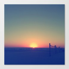 Distant Sunset Canvas Print