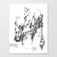 robert farkas Canvas Prints featuring robert by Valeria Pomidoro