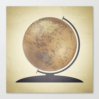 globe Canvas Prints featuring Globe by Sarah Rodriguez