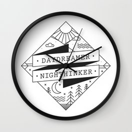 daydreamer nighthinker II Wall Clock