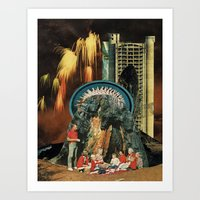 led zeppelin Art Prints featuring led by messias