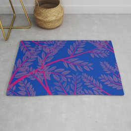 Bisexual Pride Overlapping Simple Leafy Branches Rug