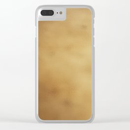 Modern elegant abstract faux gold gradient Clear iPhone Case