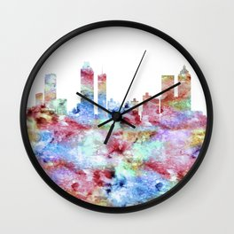 Atlanta Skyline Georgia Wall Clock