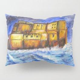 Stormy Castle dell'Ovo, Napoli Pillow Sham