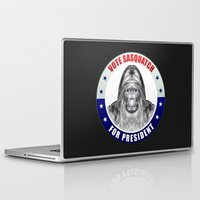 sasquatch Laptop & iPad Skins featuring Sasquatch For President by politics