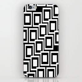 Black and White Squares Pattern 02 iPhone Skin