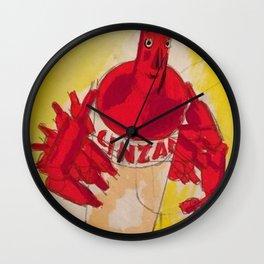 Vintage Cinzano Aperitif Cinzanonino Advertising Poster Wall Clock