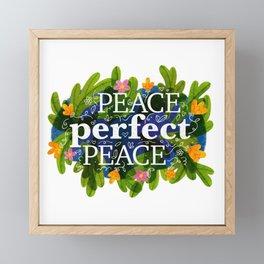 Peace, Perfect, Peace Framed Mini Art Print