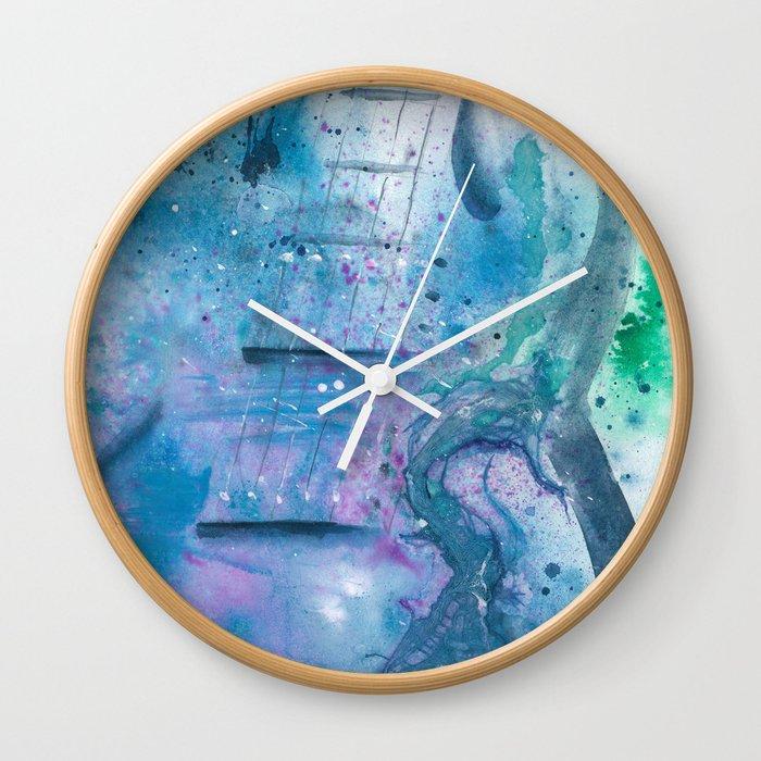 House of Blues Guitar Wall Clock