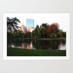 Boston Gardens Art Print