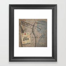 Frontiera ZRH-Milano Framed Art Print