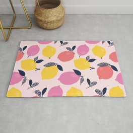 Kitschy Colorful Citrus Pattern Rug