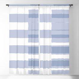 Big Stripes in Light Blue Blackout Curtain
