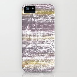 Yellow Gray colored wash drawing iPhone Case