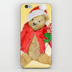 christmas_red_little_bear iPhone & iPod Skin