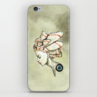 moth iPhone & iPod Skins featuring Moth 2 by Freeminds