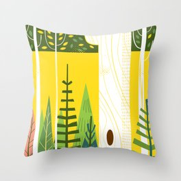 Joyful Trees Throw Pillow