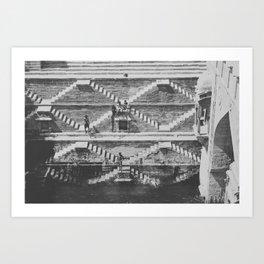 STEPWELL Art Print