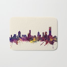 Melbourne Skyline Bath Mat