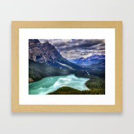 Peyto Lake - Banff National Park Framed Art Print