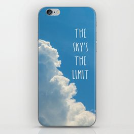 Sky's the limit - cloudscape iPhone Skin