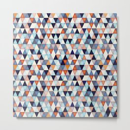 Abstract mosaic triangle colors Metal Print