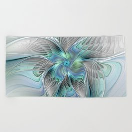 Abstract Butterfly, Fantasy Fractal Art Beach Towel