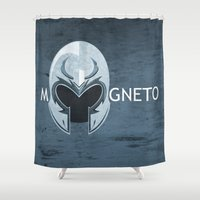 magneto Shower Curtains featuring Magneto by Tony Vazquez