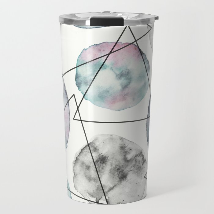 Orbiting Asteroid Pattern Travel Mug