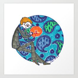 Ivanhoe and Paisley Art Print