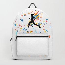 Colorful Energy - Running Girl Silhouette Backpack