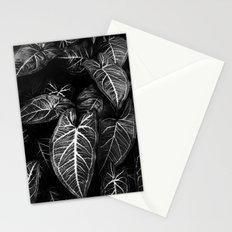 Jungle leaf - midnight Stationery Cards