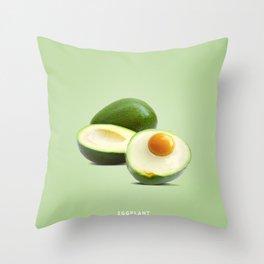 Eggplant B Throw Pillow