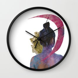 soap moon Wall Clock