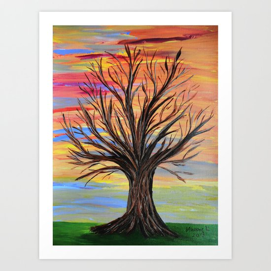 The bare tree Art Print