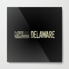Black Flag: Delaware Metal Print