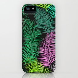 Palm Leaves Dark iPhone Case
