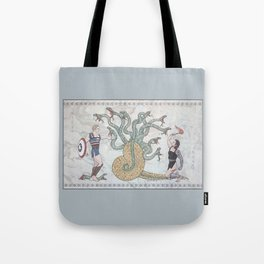 Steve, Bucky and the Hydra Tote Bag