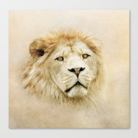 lion Canvas Prints featuring Lion by Peaky40
