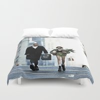 leon Duvet Covers featuring LEON, THE PROFESSIONAL by VAGABOND