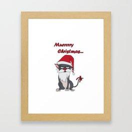 Santa Cat - Murrry Christmas Framed Art Print