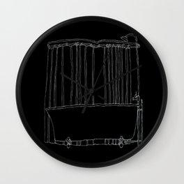 Bathtub In Black Wall Clock