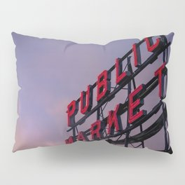 Pike Place Neon Sunrise Pillow Sham